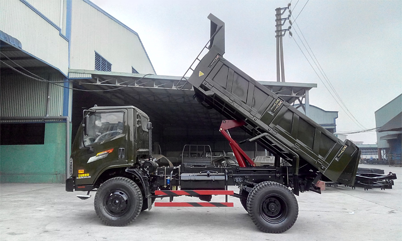 Xe tải ben Chiến thắng 6.2 tấn 2 cầu ca bin mới